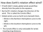 how does earth s rotation effect wind