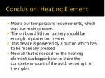 conclusion heating element