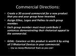 commercial directions