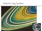 saturn s ring system