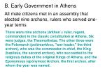 b early government in athens