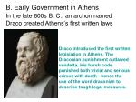b early government in athens1