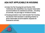 ada not applicable in housing