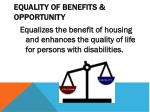 equality of benefits opportunity