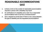 reasonable accommodations quiz
