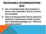 reasonable accommodations quiz1