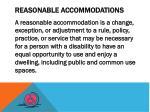 reasonable accommodations