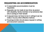 requesting an accommodation
