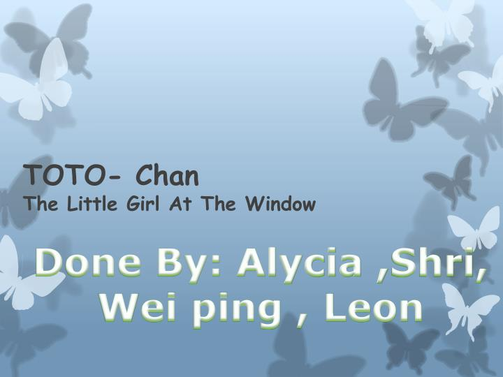 toto chan the little girl at the window n.