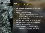 what is arsenic