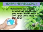 tempat metabolisme