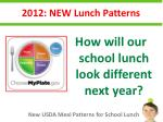 2012 new lunch patterns