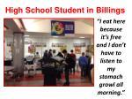 high school student in billings