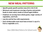new meal patterns