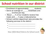 school nutrition in our district