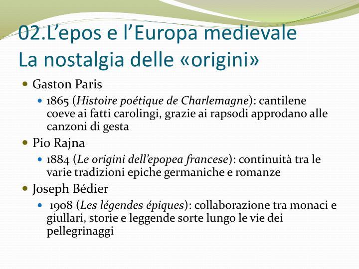 02.L'epos e l'Europa medievale