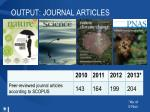 output journal articles