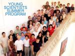 young scientists summer program