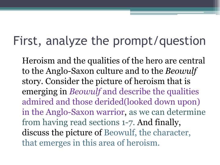 First analyze the prompt question
