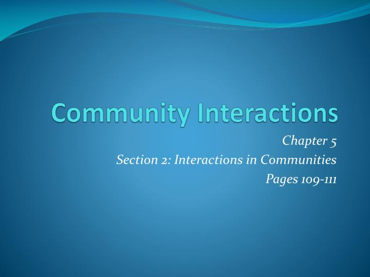 community interactions n.