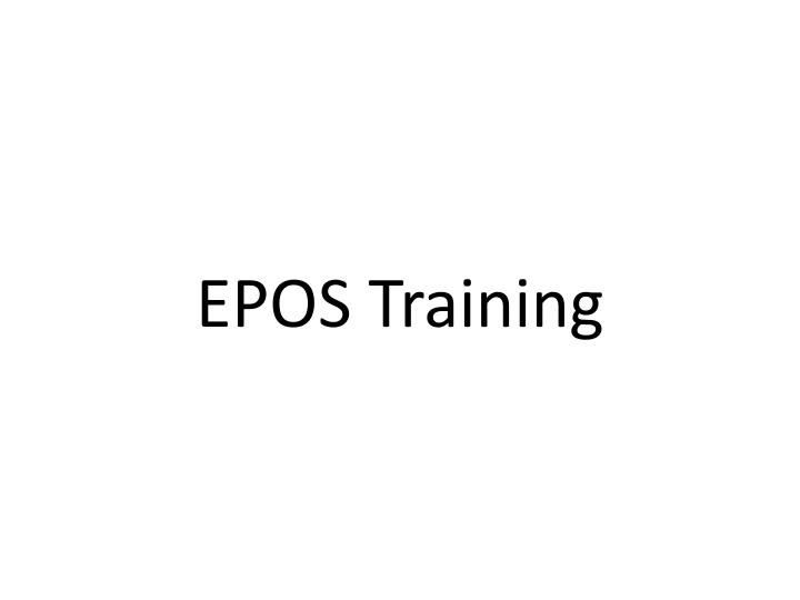 epos training n.