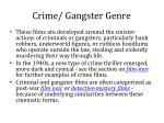 crime gangster genre