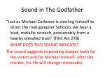 sound in the godfather