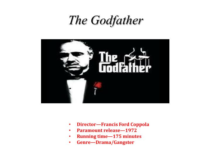 the godfather analytical essay The godfather the godfather, a name that stands for authority, is the title of the fictional novel and feature films written by mario puzo and directed by frank coppola don vito corleone, also known as the godfather, is the patriarch of the corleone crime family.