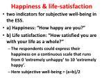 happiness life satisfaction