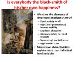 is everybody the black smith of his her own happiness