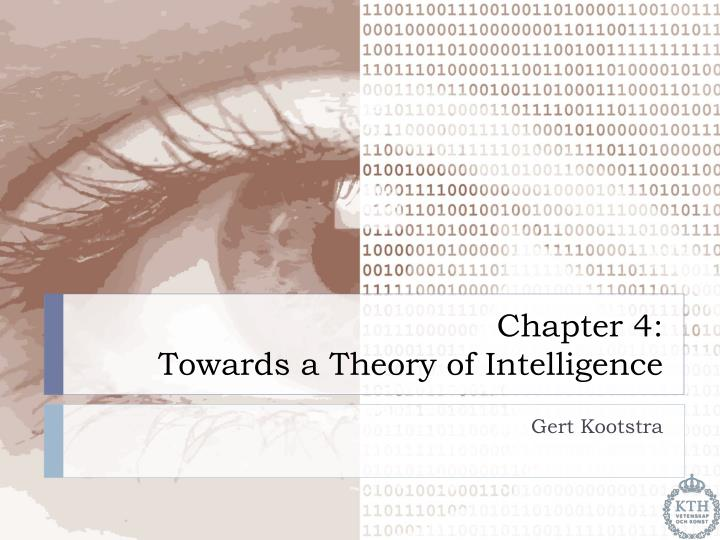 chapter 4 towards a theory of intelligence n.