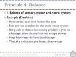 principle 4 balance