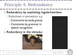 principle 4 redundancy4