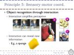 principle 5 sensory motor coord4