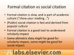 formal citation vs social citation