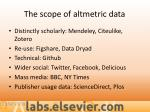 the scope of altmetric data