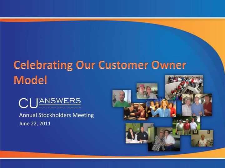 celebrating our customer owner model n.