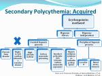 secondary polycythemia acquired