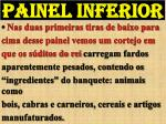 painel inferior