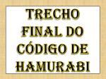 trecho final do c digo de hamurabi