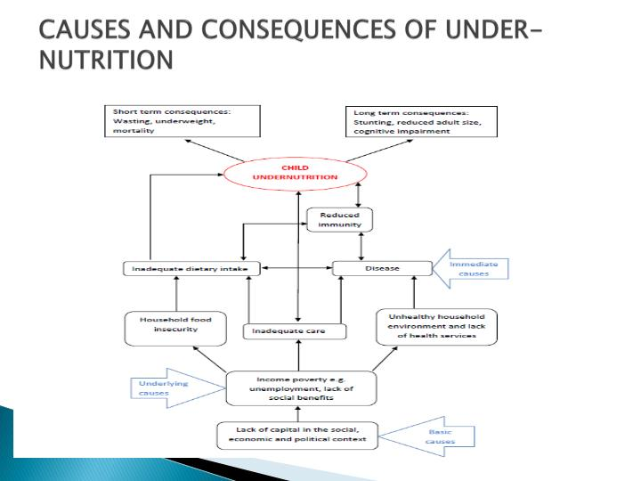 CAUSES AND CONSEQUENCES OF UNDER-NUTRITION