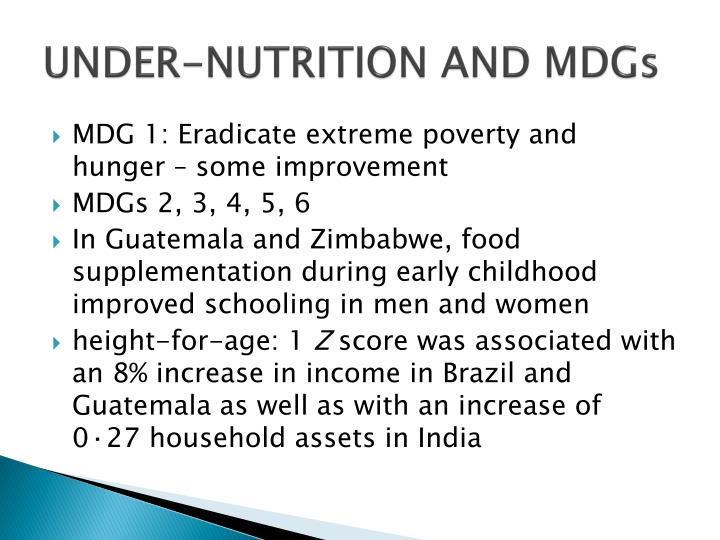 UNDER-NUTRITION AND