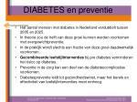 diabetes en preventie