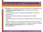 overgewicht en preventie