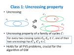 class 1 uncrossing property