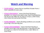 watch and warning