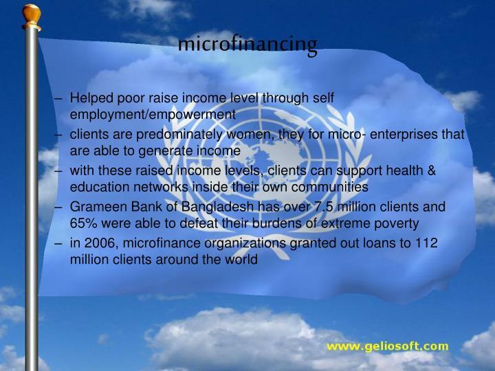 microfinancing