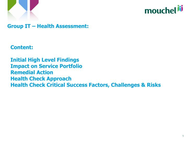 group it health assessment n.