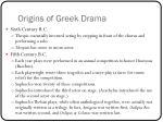 origins of greek drama