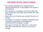 mastering the five laws of change